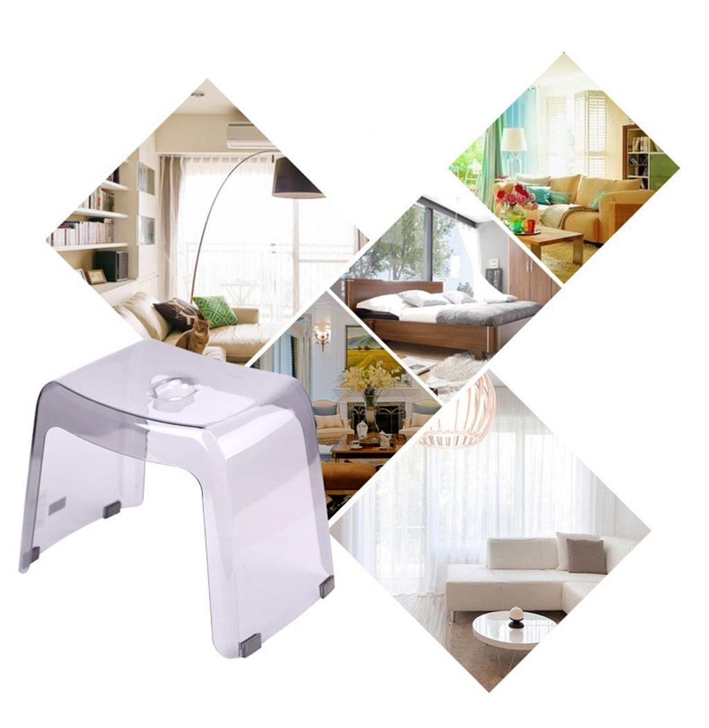 Colore : Brown 39x25x30cm Peso Max.50kg Toilette da Bagno Sgabello da toeletta Antiscivolo in plastica da Bagno con Sgabello