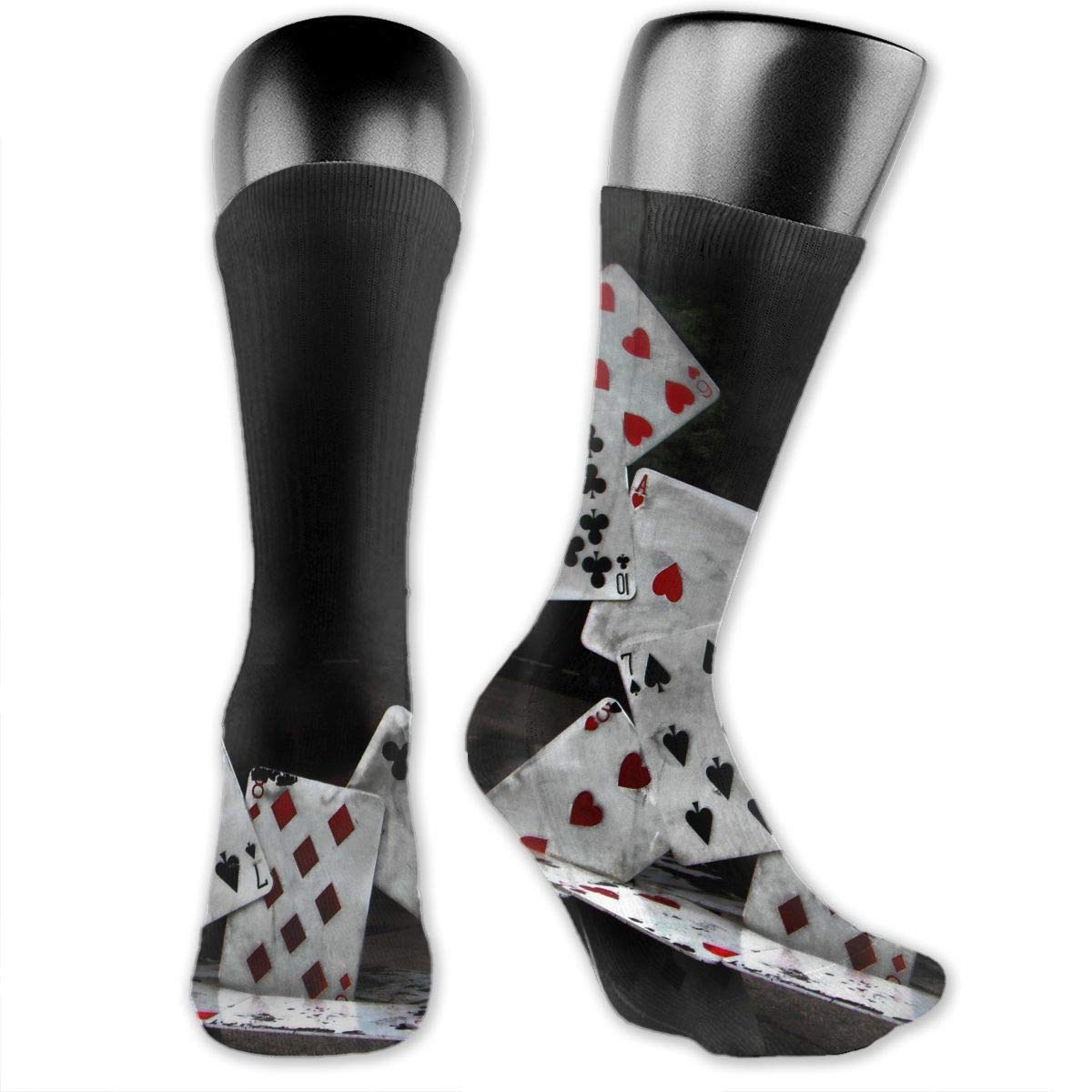 OLGCZM Abstract Castle of Cards Poker Men Womens Thin High Ankle Casual Socks Fit Outdoor Hiking Trail