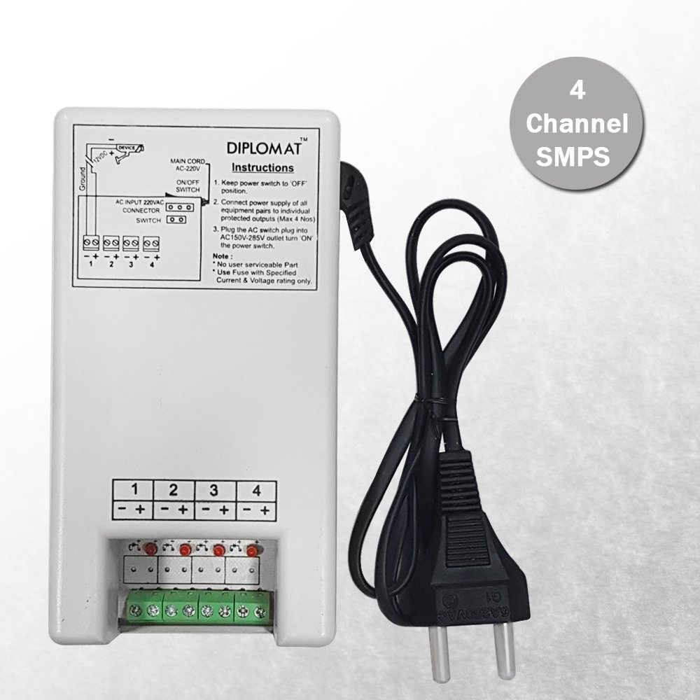 Amazon.in: Buy Elove 5 Amp (12VDC) 4 Channel Power Adapter Supply ...
