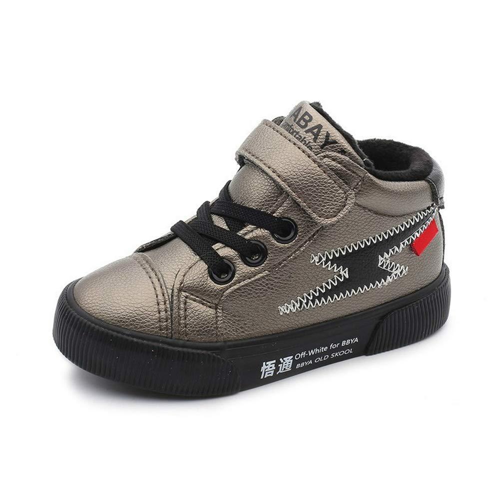 Niñ os de Invierno Zapatos Acolchados de algodó n Chicas Alta Top Moda Ocio Zapatos Niñ os Impermeable Moda Invierno Zapatos al Aire Libre