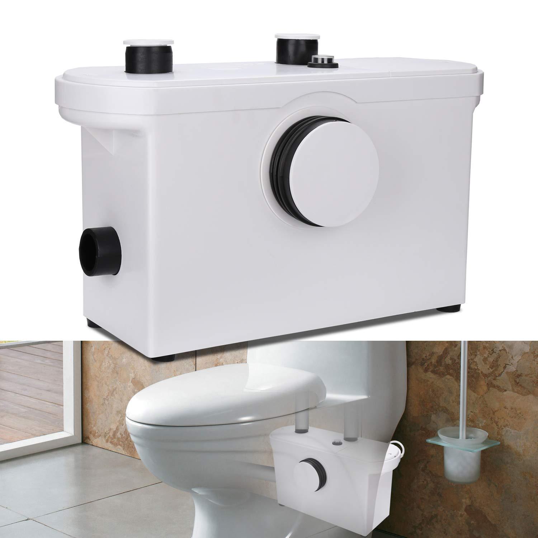 Wolketon 3//1 Hebeanlage F/äkalienpumpe 600W Kompakte Abwasserentsorgung H/änge WC Dusche Waschtisch Haushaltspumpe