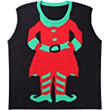 GRACIN Unisex Ugly Christmas Sweater, Plus Size Knit Vest Adult Sleeveless Coupls Sweaters