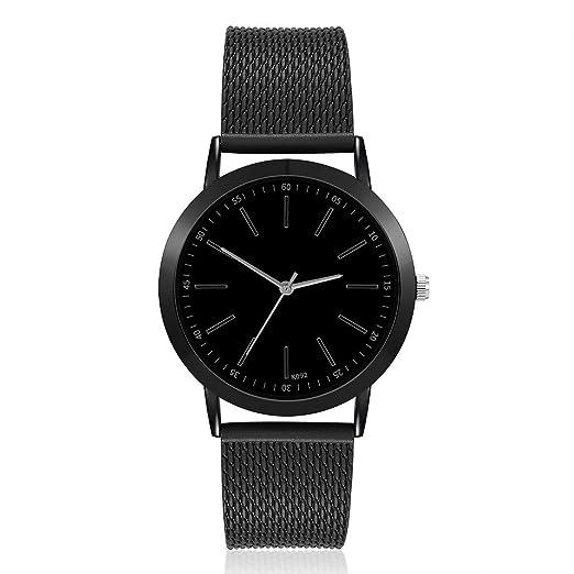 Moda de Negocios Styel Hombres Ronda Dial Pointer Moda Hombre Relojes Banda de PVC Reloj de Cuarzo Correa Delgada Casual Reloj de Regalo - Negro: Amazon.es: ...