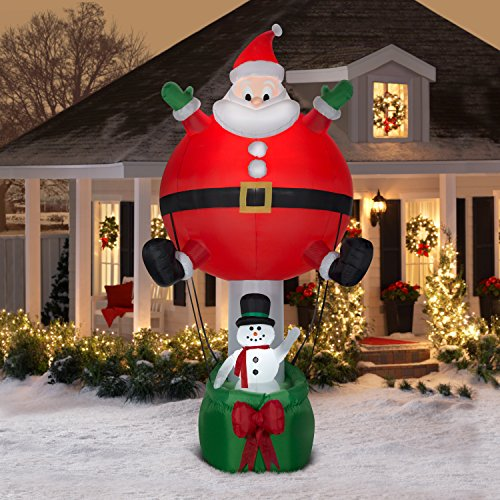 Santa Inflatable Hot Air Balloon - Christmas Fun Airblown - 12ft tall by Holiday Airblast