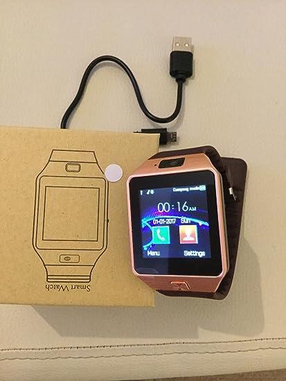 Reloj inteligente DZ09 de alta calidad, oro rosa (oro rosa)