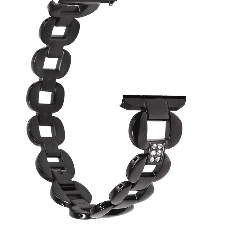 x4-techクイックリリース – プレミアムソリッドステンレススチール時計バンドストラップfor Men 's Women 's Watch Samsung Gear s2 Classic、s3、クラシック、s3フロンティア、ギアスポーツ(20 mmまたは22 mm) 22mm ブラック-01 ブラック-01 22mm B078HB4XTH