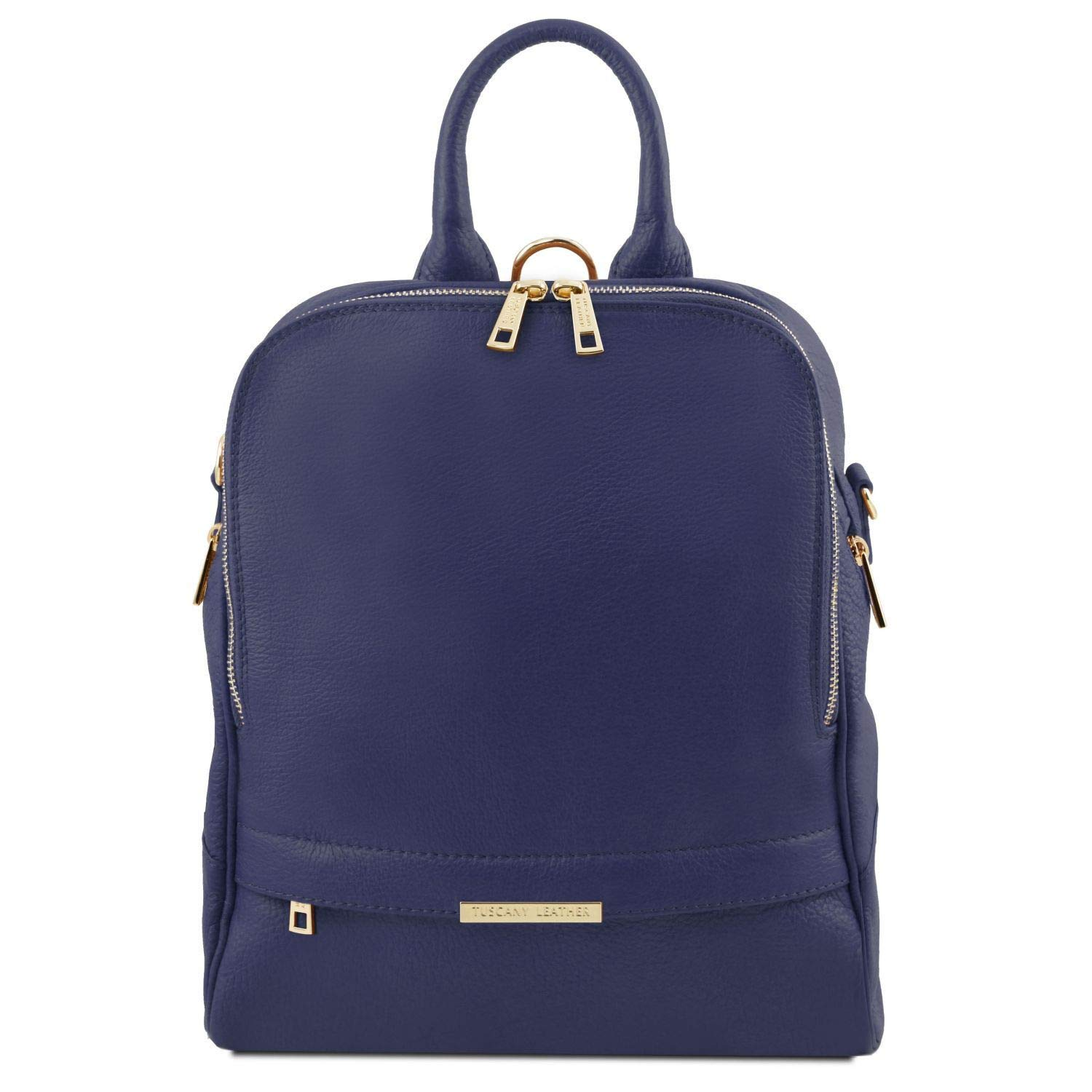 Tuscany Leather TLBag Soft leather backpack for women Dark Blue