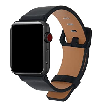 HILIMNY Pour Apple Watch Bracelet en Cuir Véritable 38MM 42MM, iWatch  Bracelet pour Apple Watch 58d1cd9eee3