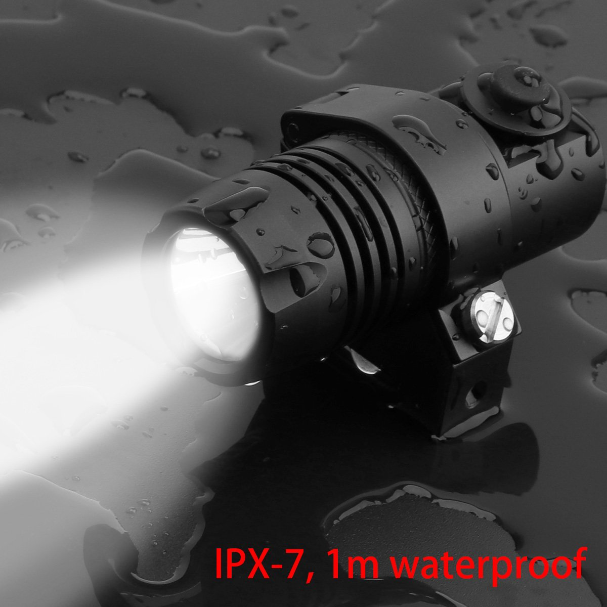 2-mode 210LM Handgun Pistol torcia con luce Weaver Mount SecurityIng impermeabile CREE LED torcia gun-mounted Strobe