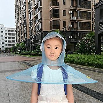 TDC paraguas sombrero para niños transparente nuevo diseño portátil plegable Headwear UFO manos libres paraguas para