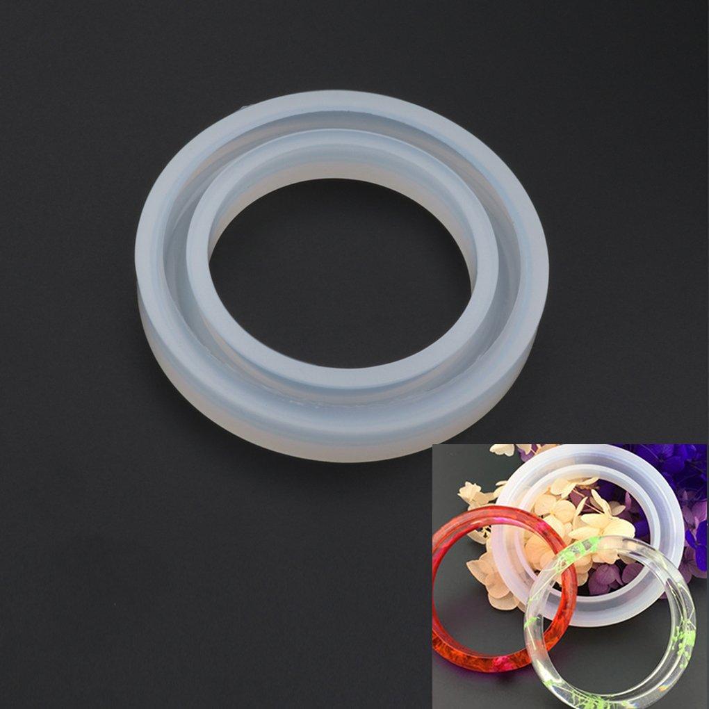 Zerama Round Moule Moule en Silicone pour la r/ésine Curve Bracelet Bijoux Faire de Bricolage