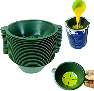 KANGHUANG 1 Gallon 190 Micron Reusable Industrial Nylon Mesh Paint Filter Strainer Funnel Net Filter Paint/Oil/Gutter Oil and Food Residue (15CM-diameter-20Pcs)