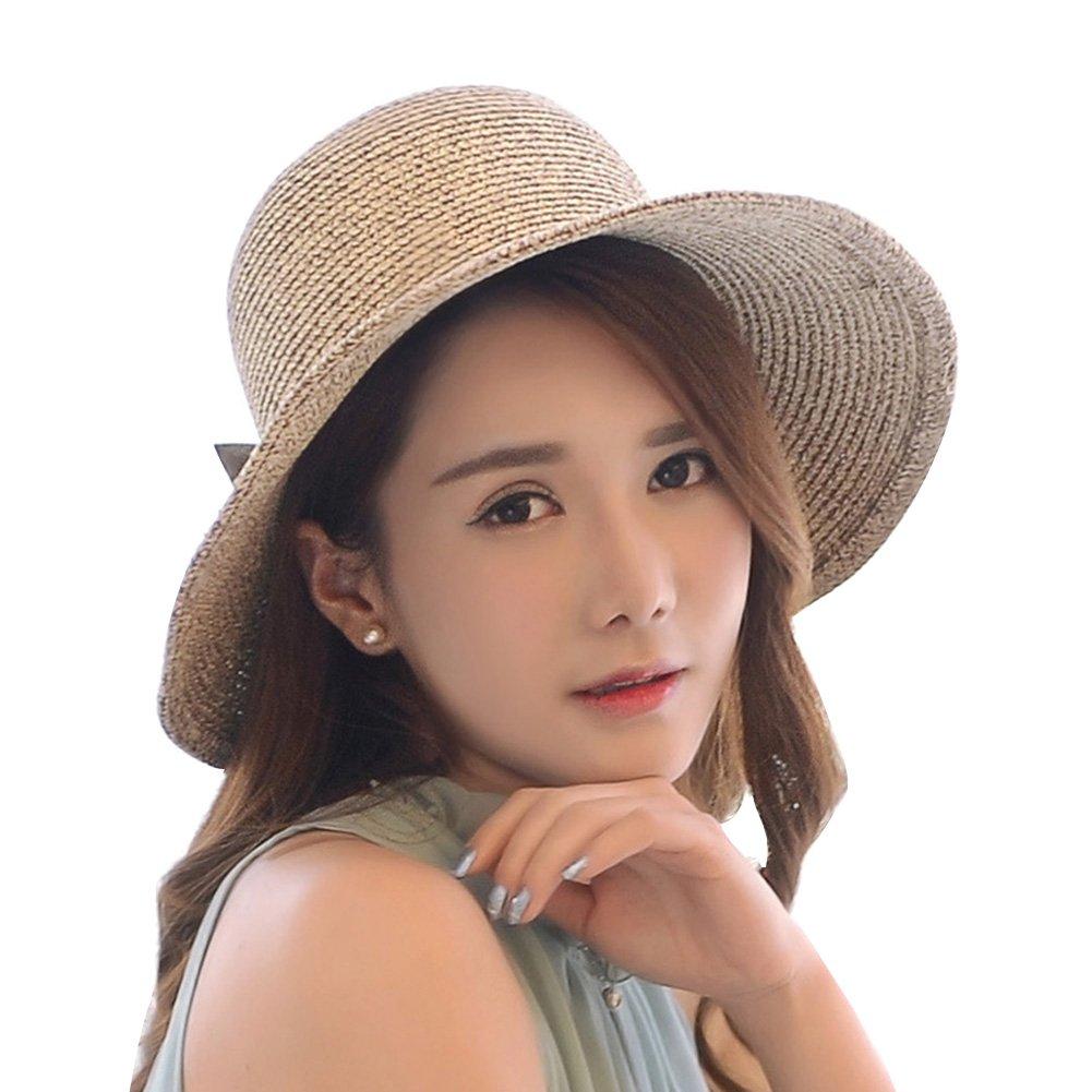 Mujer Sombrero de paja Con Bowknot / Sombrero Panamá Sombrero de verano Sombrero de la playa / Sombr...