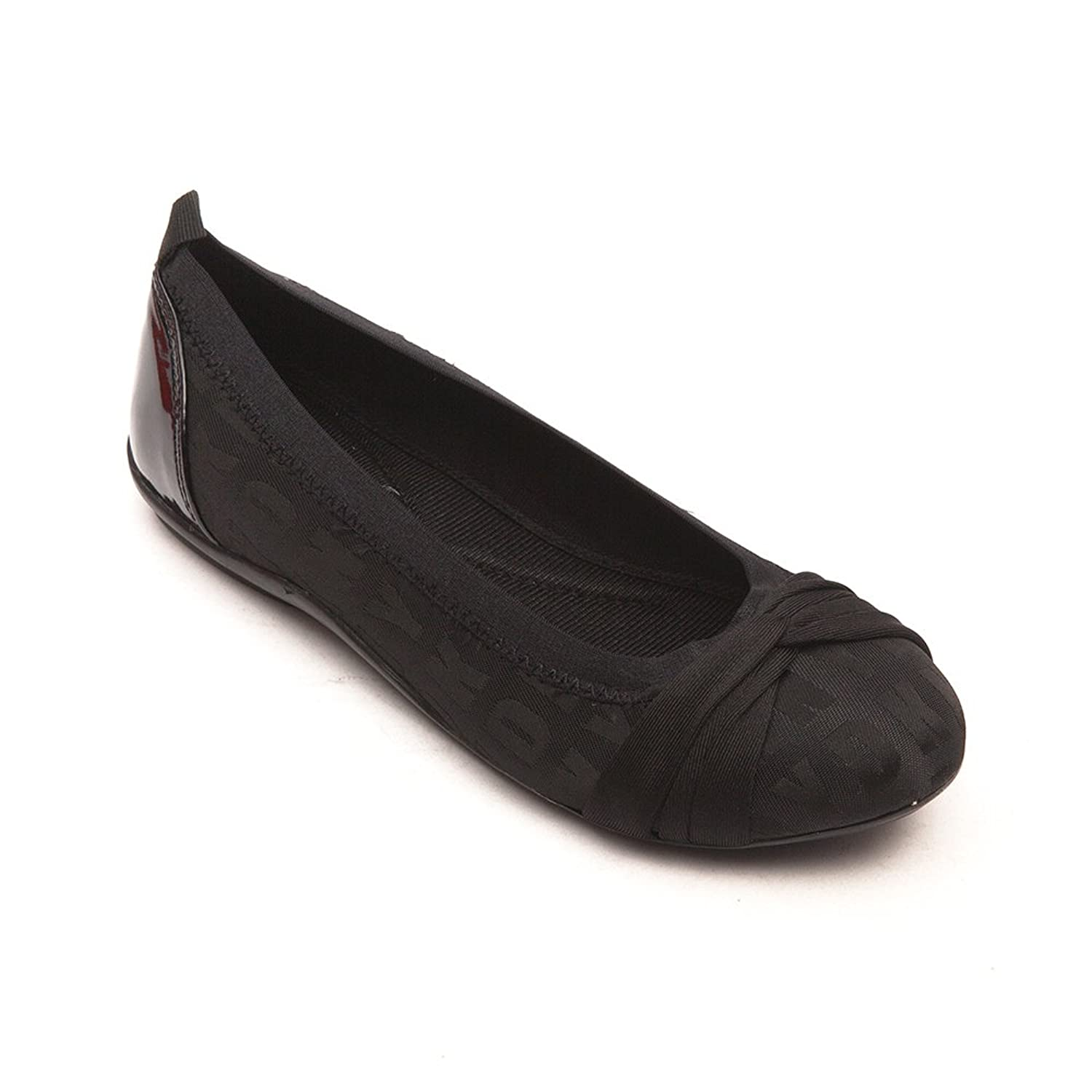 DKNY Women's Stunning Logo Black Fashion Ballet Flats Shoes