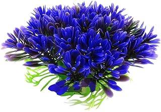 Regard Natral Impianto Acqua Viola pianta Erba Artificiale di plastica carro Armato di Pesci Ornament Decor
