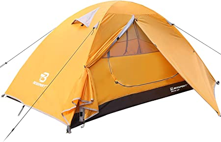 Bessport 2-3 Person Tent for Camping, Easy Setup Backpacking Tent Lightweight with Two Doors, Waterproof & Windproof Hiking Tent for 3-4 Seasons, Outdoor, Mountaineering and Travel