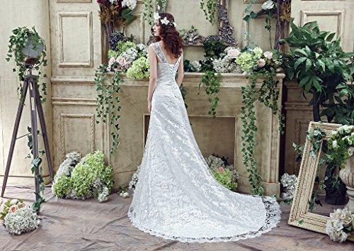 Dresses Bride Sweetheart Tea Aurora Ivory Gowns Bridal Wedding Lace Length Women's CwxRaqp