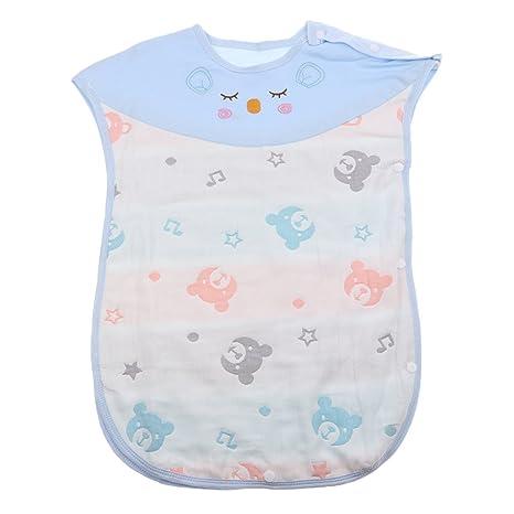 D dolity muselina – Saco de dormir para bebé para el verano azul Talla:M