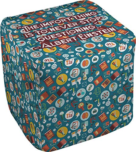 RNK Shops Rocket Science Cube Pouf Ottoman - 18'' (Personalized) by RNK Shops (Image #1)