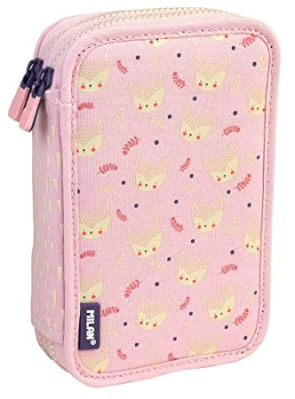 Estuche Milan Berrywood Pink Doble 36 Piezas: Amazon.es ...