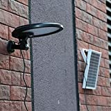 ACMESHINE Extra Bright! Solar Security Garage Driveway Spot Light Motion Sensor 56 LED (3 W built-in solar panel + 5 W extra solar panel +DC cable)