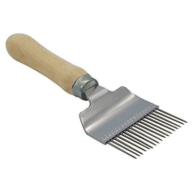Blisstime Stainless Steel Uncapping Fork Wooden Handle : Garden & Outdoor