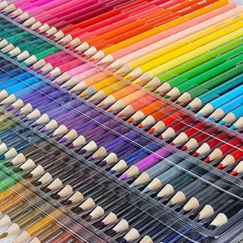 Soucolor 160 Colored Pencils Set Artist Drawing Coloring Pencils for Adult Coloring Books Art Projects by Soucolor (Image #4)
