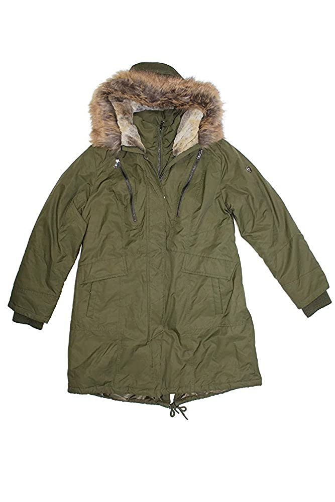 1 Madison Expedition Womens Faux Fur Hooded Parka Jacket at Amazon Womens Coats Shop