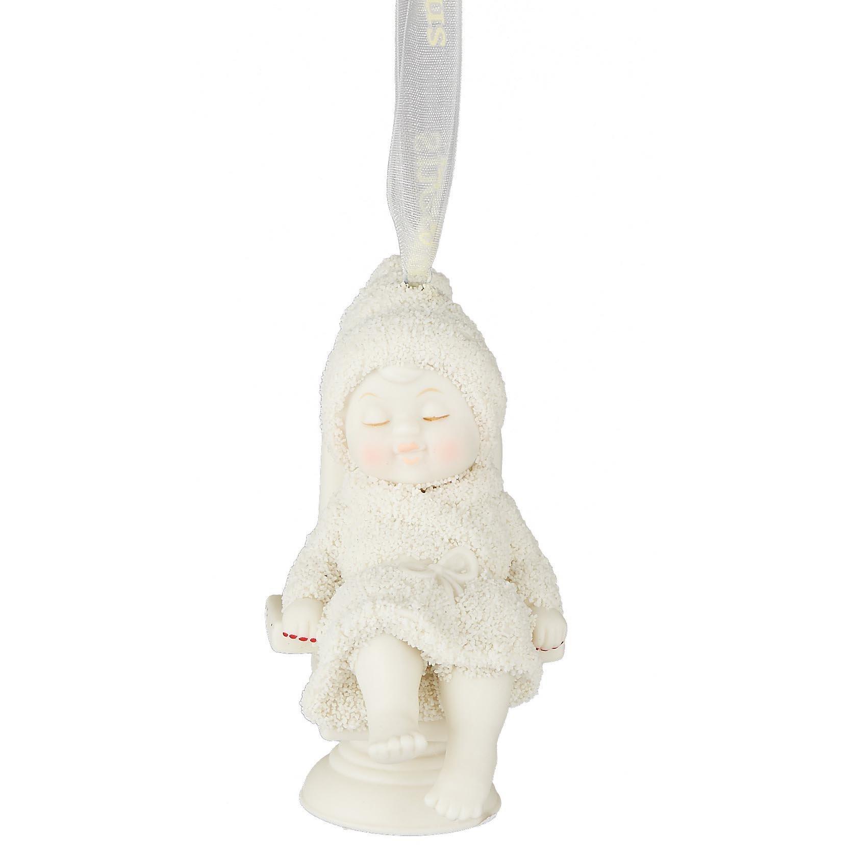 """Department 56 Snowbabies """"Spa Day"""" Porcelain Ornament, 2.76"""""""