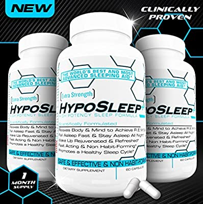 HypoSleep The Best Sleep Aid and All Natural Sleeping Formula, Fast Acting, Non Habit-Forming, Wake Up Rejuvenated & Refreshed!
