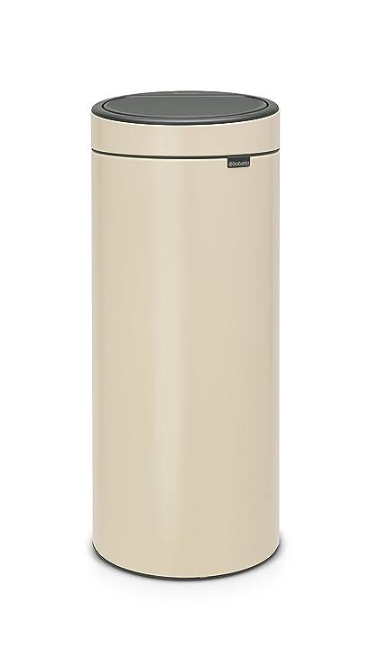 Brabantia Touch Bin 30 Liter.Brabantia Touch Bin New 30 Litre Almond Amazon Co Uk Kitchen Home
