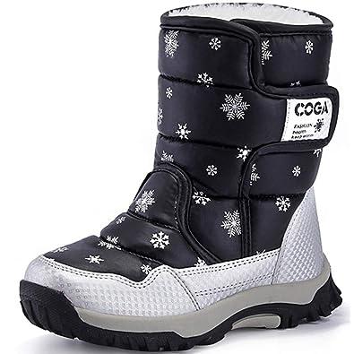 Bambini 2 - 16 anni Bambina: scarpe Moda Bambina Neve Caldo Invernale Stivali Impermeabile Esterno Alta Scarpe