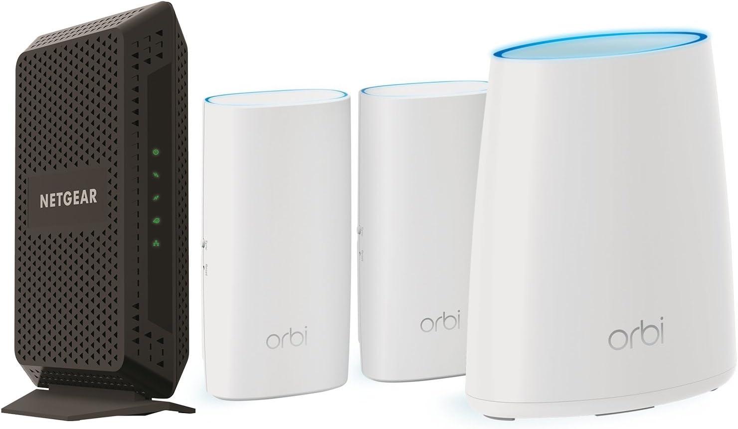 NETGEAR Orbi WallPlug Whole Home Mesh WiFi System Router /& 2 Satellites RBK33