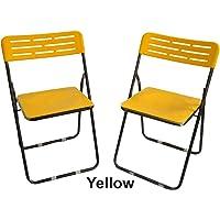Rjkart Plastic and Steel Multipurpose Folding Chair Set of 2