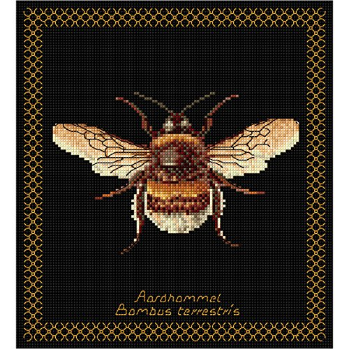 Thea Gouverneur 18 Count Bumble Bee on Aida Counted Cross Stitch Kit, 8 x ()