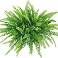 Gtidea 4pcs Artificial Plastic Grass Leaves Plants Bridal Home Garden Office Floor Restaurant Wedding Decor Green