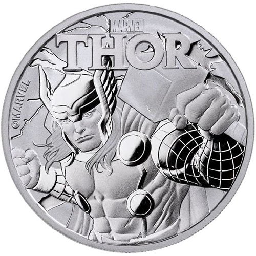 2018 TV 1 oz Tuvalu Thor Marvel Series Silver Coin Dollar Uncircualted Mint