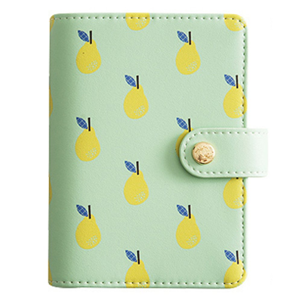 Labon's 6 Round Ring A6 Binder Softcover PU Leather Zippered Personal Organizer Refills for Ruled Dotted Squared Blank Filler Paper Loose Leaf Premium Thick 100 Sheets 5 Divider Tabs Green Pear