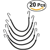 Frcolor 20Pcs Ponytail Hooks Headband Hair Claw Hair Clips Rubber Bands Hair Braid (Black)