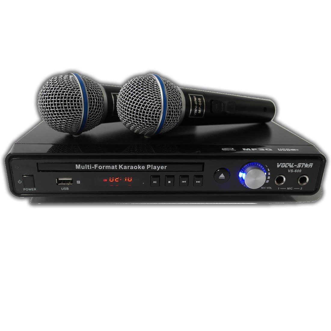 Vocal-Star VS-600 Black HDMI CDG DVD Karaoke Machine 2 Microphones & 150 Songs