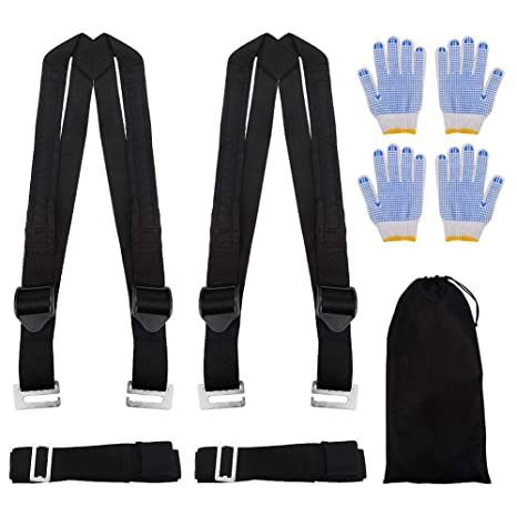 img buy Moving Straps, Adjustable 2 Person Lifting and Moving Straps,Easy Safe Move Furniture Appliance Heavy Bulky Objects Rated Items Up to 800 LBS, Ergonomic Design, No Back Pain Muscle Strain