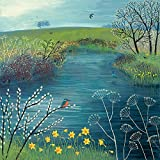 """Jo Grundy """"Spring at Kingfisher Pool"""" Canvas Print, Multi-Colour, 40 x 40 cm"""