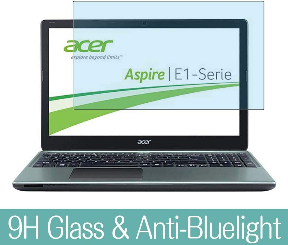 """Synvy Anti Blue Light Tempered Glass Screen Protector for Acer Aspire E1-532 / E1-532G / E1-532P / E1-532PG 15.6"""" Visible Area 9H Protective Screen Film Protectors (Not Full Coverage)"""