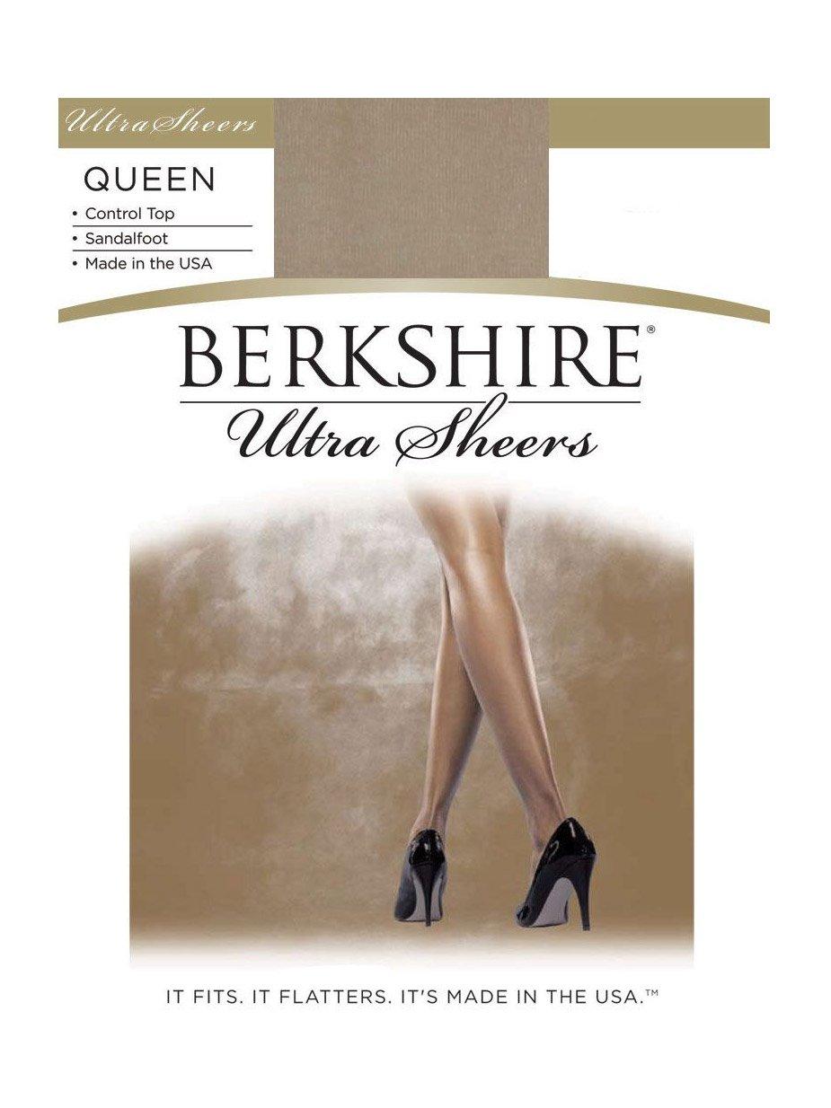 Berkshire Women's Plus-Size Queen Size Ultra Sheer Pantyhose - 4411, Nude, Queen Petite