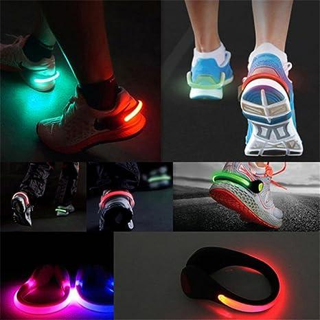 2//4Pcs Mini Flash Shoe LED Night Light Clips Safety Warning Outdoor Running