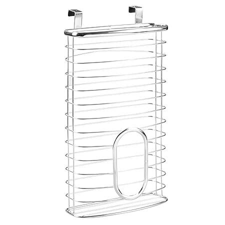 InterDesign Axis Carrier Bag Dispenser Bag Holder Plastic Bag Storage Solution Metal  sc 1 st  Amazon UK & InterDesign Axis Carrier Bag Dispenser Bag Holder Plastic Bag ...