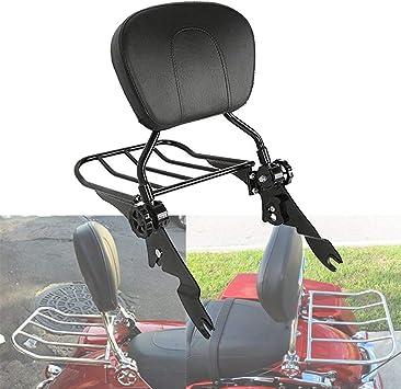 Green-L Multipurpose Adjustable Passenger Rider Sissy Bar Backrest W//Luggage Rack Fit For Harley Touring Road King Electra Glide Sportster XL Softail Dyna