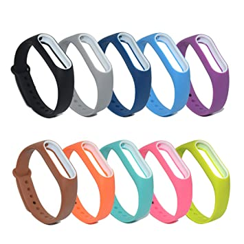 Amazon com : Accessory Band for Xiaomi Mi Band 2, Replacement Rubber