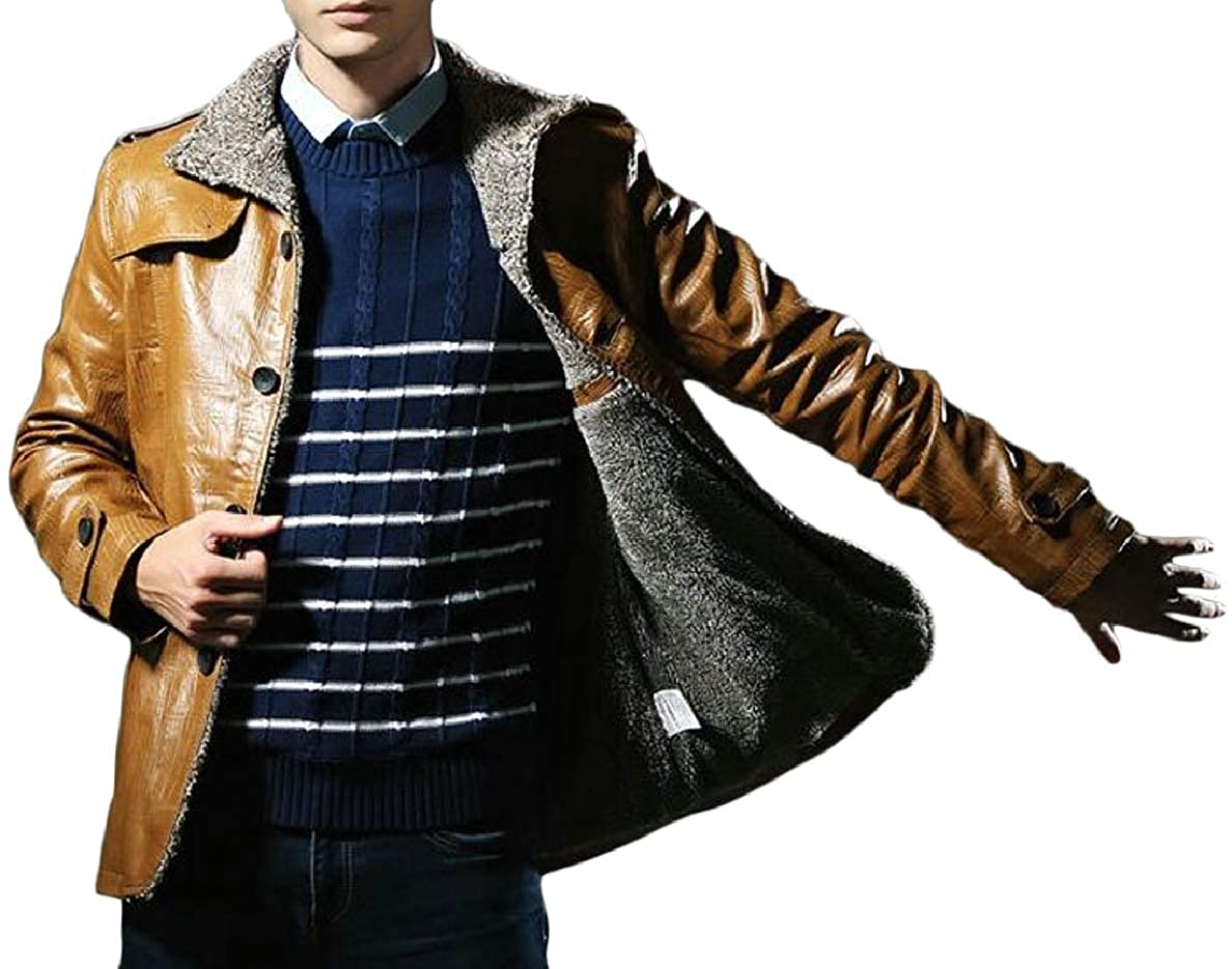 4986361cd677 Khaki Xswsy XG-CA Men's Vintage Jacket Winter Faux Faux Faux Fur Lined Button  Coats Outwear 1192fa