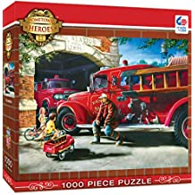 MasterPieces Hometown Heroes Firehouse Dreams - Vintage Firetruck 1000 Piece Jigsaw Puzzle by Dan Hatala